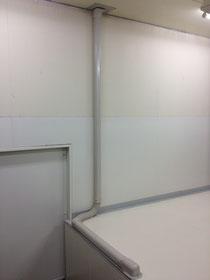 徳島市川内町エアコン取り付け カバーダクト工事