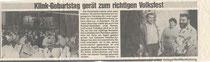 Zeitungsbericht zum Jubiläum