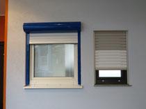 Fenster und Rolläden in weiss