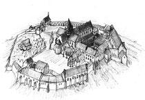 Klosteranlage um 1500