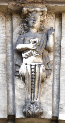 Clé de voûte sur la façade