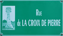 Plaque de rue à Bourseville
