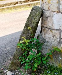 Lucheux- Au coin d'une rue de la cité médiévale