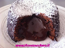tortino al cioccolato con cuore morbido