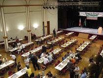 Blick in den Turniersaal vor der ersten Runde