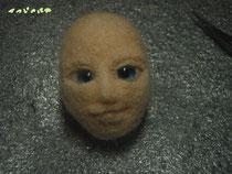 羊毛フェルト 顔作成過程