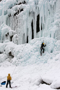 Escalade sur glace, France - Fred de Noyelle