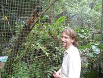 Frank mit seinen Papageien