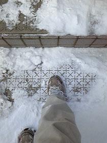 雪滑りとめマット