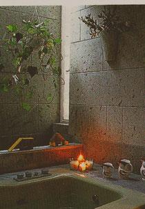 石調タイルで浴室
