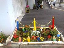 ガーデデン庭色鉛筆フェンス