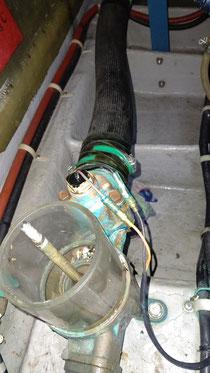 ヤマハディーゼルの海水流量センサー
