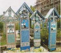 """Sapanta, cimetière hyper-célèbre, où Jean-Luc Bourdila est allé """"en pélerinage"""""""