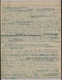 fac-similé de lettre de Huysmans à propos de Gustave Moreau
