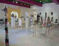 une vue d'ensemble d'une des salles d'exposition