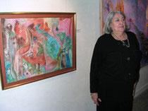Cérès Franco à l'exposition d'Angers