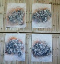 les 4 dessins exposés