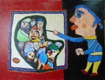 Le petit peintre bleu