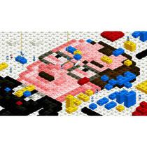 Adaptation en légos d'une oeuvre de Mondrian