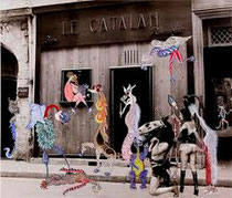 Exposition au Catalan que Georges Hugnet fut chaegé de décorer