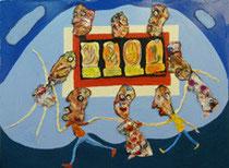 Sarabande de marionnettes, sous le regard des petits Patapons