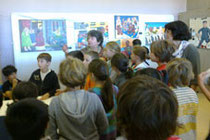 Présentation des oeuvres aux élèves à la IVe Biennale de Lyon