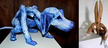 Chien bleu et Lapin