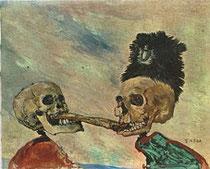 Squelettes se disputant un hareng
