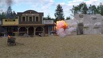 Explosion in Filmstadt Geiselgasteig