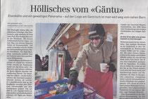 """Der """"Gäntu"""" in der Sonntagszeitung"""