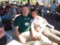 in einem Café in Istanbul - auf unserer Hochzeitsreise