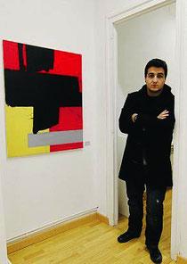 Rodrigo Martín, en la exposición. / luisma murias