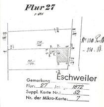 Lageplan - unbebaut  (mit freundlicher Genehmigung des Kataster- und Vermessungsamtes beim Kreis Aachen)