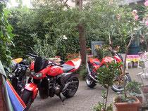 Biker im Hof