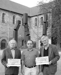 Hans-Jörg Bauer, Frank Grüning, Prof. Dr. Wilhelm Rimpau (v.l.)