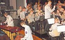 Der Musikverein Frenkhausen und die Xylophonsolisten Tim Kramer und Marc Püttmann ernteten unter der Leitung von Bernhard Reuber lang anhaltende Beifallsstürme.