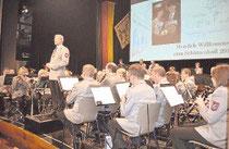 Der Musikverein Frenkhausen unter der Leitung von Bernhard Reuber sorgte für beste Unterhaltung.