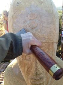 Uräus mit Aton auf der Krone des Echnaton