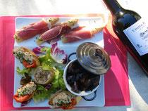 """Assiette de Pays """"Merveilleuses richesses de l'Adour"""" proposée par le restaurant Lou Touping à Saubusse les Bains"""