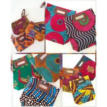 アフリカンプリントのバッグ