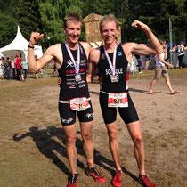 Die zwei besten Deutschen: Alexander Haas (Profi, TSG 08 Roth) 9.Platz gesamt und Martin Schädle (TV Memmingen) 17. Platz  gesamt.