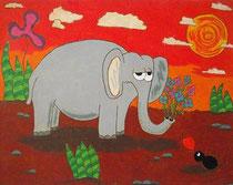 Déclaration -2004-  50x65cm    Techniques: Pastels à l'huile, crayon terre de sienne, sécatif.