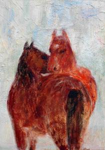Harmonie 1 Pferde, 2011, 100x70