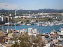 vista de la ciutat d'Eivissa
