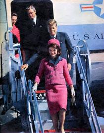 John Fitzgerald Kennedy Dallas aéroport Love Field Jackie Kennedy
