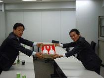 韓国自動車労組聯盟幹部の表敬訪問