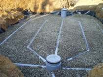 Assainissement individuel avec filtre à sable vertical drainé et parois étanches
