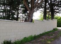 Réalisation d'un mur en maçonnerie bloc éclair