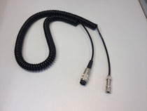 Spiralkabel für Taster mit Steckeranschluss