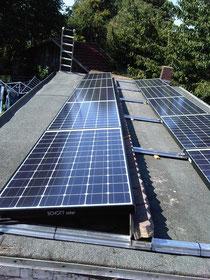 1,95 kWp, Module von Schott Solar, Wechselrichter SolarMax, Gestell von Schletter, Aufständerung 10 Grad